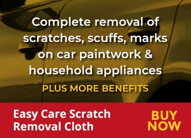 Complete removal of screatches, scuffs, marks on car paintwork & household appliances
