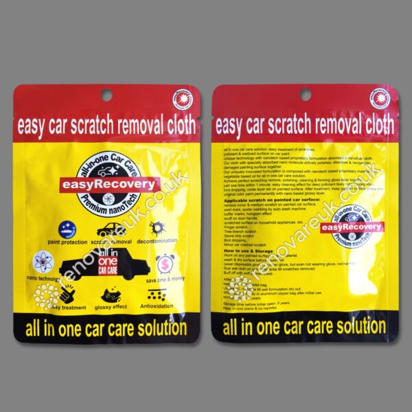 Easy car scratch removal cloth product front and back